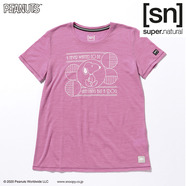 [sn]super.natural スーパーナチュラル スヌーピー PEANUTS Tシャツ Never Wanted to be-