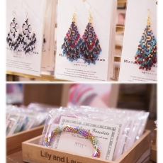 「MATSUNO GLASS BEADS」&「Lily and Laura...