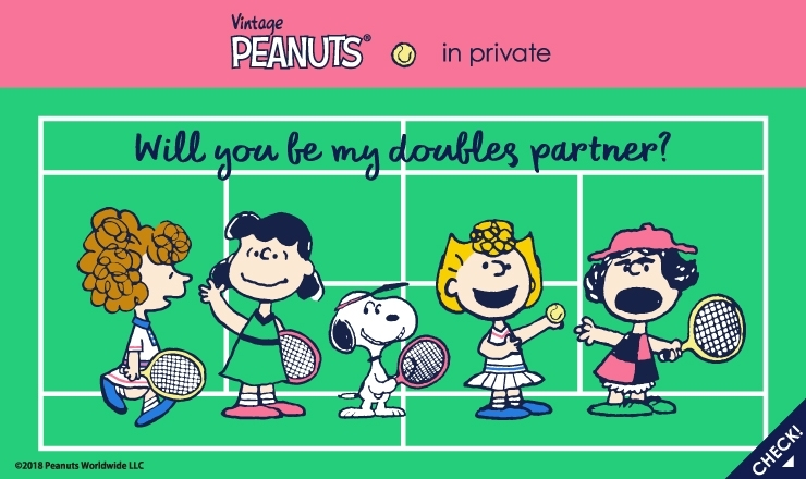 PEANUTS×in private 2018